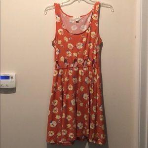 PacSun floral cut out dress